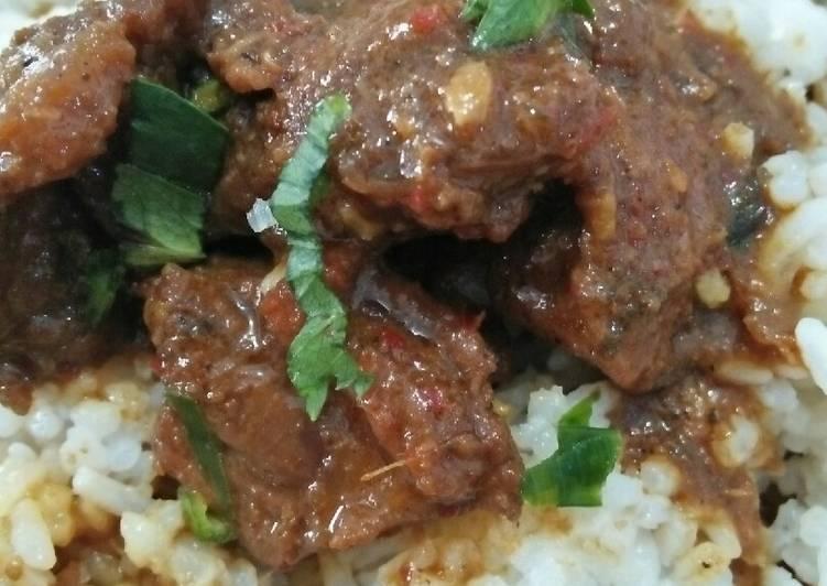 Resep: Bistik/rabeg daging sapi/kerbau manis pedas