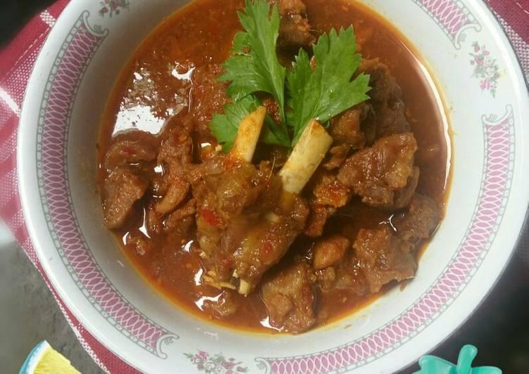 Cara Mudah mengolah Rabeg Kambing (hot and spicy) lezat