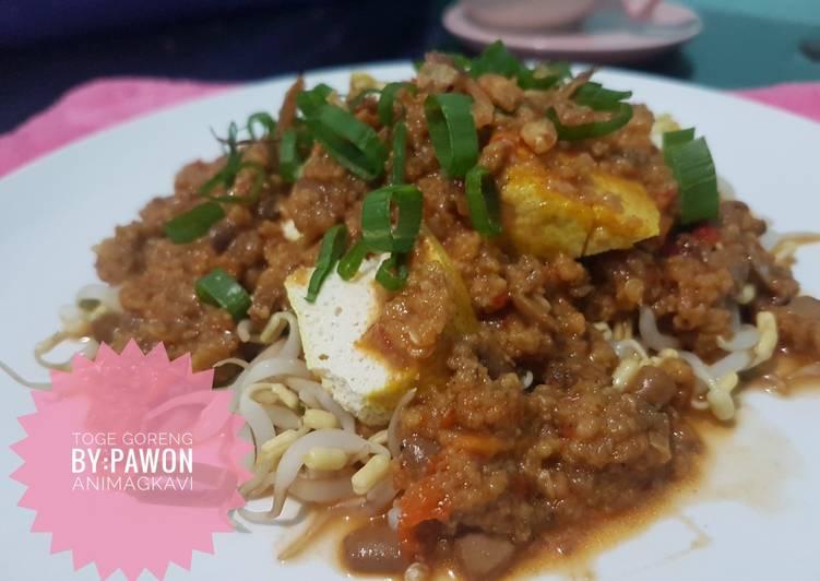 Cara memasak 100# toge goreng tauco