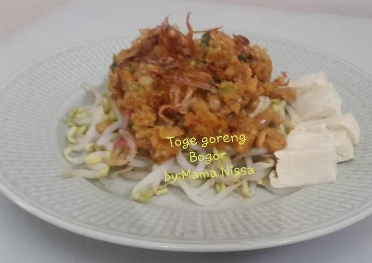 Resep membuat Toge goreng Bogor ala resto