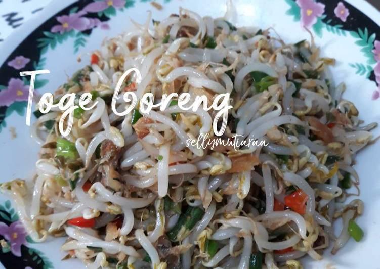 Resep memasak Toge goreng ala resto
