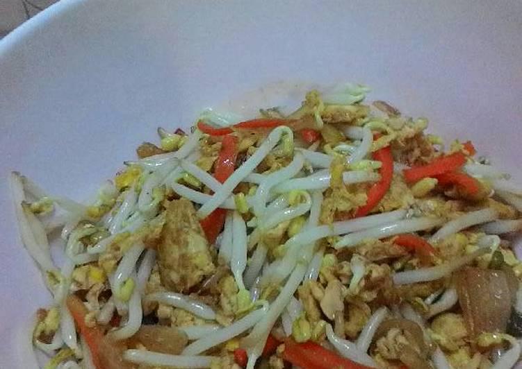 Cara Mudah membuat Taoge goreng (saos teriyaki) sedap