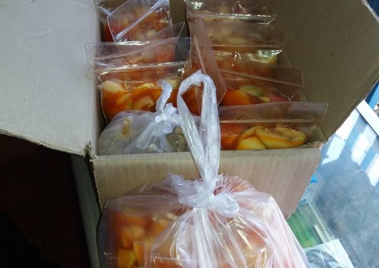 Cara membuat Asinan buah khas betawi asli enak