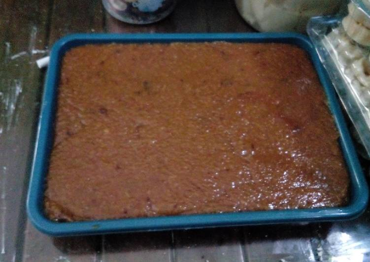 Cara memasak Jenang Madumongso (dodol tape ketan) istimewa
