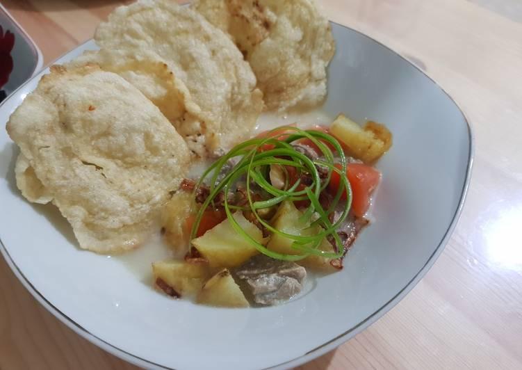 Resep memasak Soto betawi kuah susu murni lezat