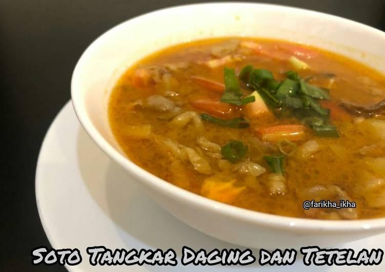 Resep: Soto Tangkar Daging & Tetelan ala resto