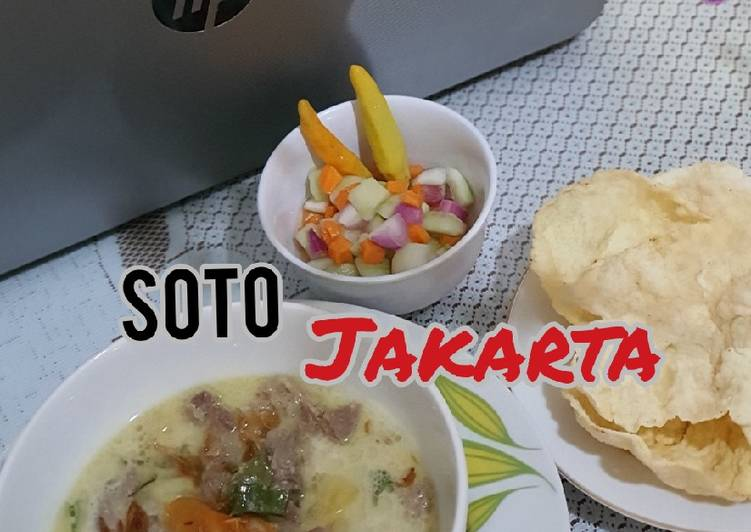 Cara memasak Soto Jakarta yang menggugah selera