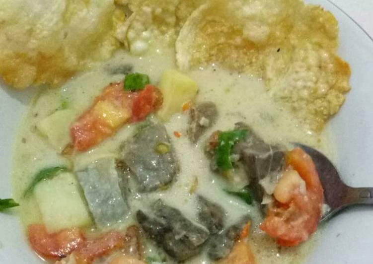 Cara memasak Soto Betawi Paru (Santan+susu) ala resto