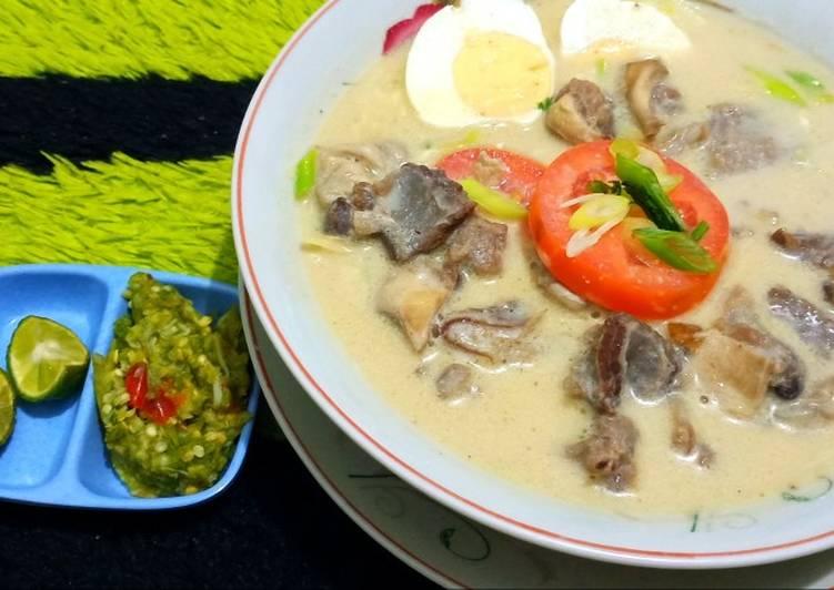 Cara membuat Soto daging sapi / Soto kuah santan creamy / Soto betawi KW sedap