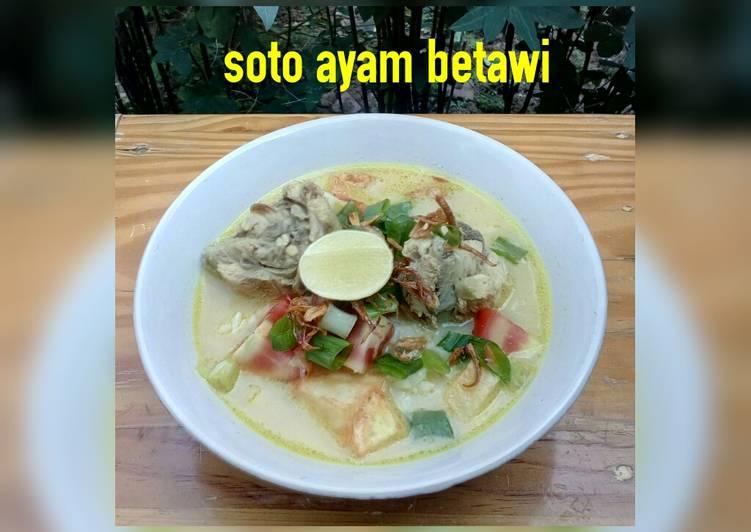 Resep: Soto ayam betawi (susu+santan) enak