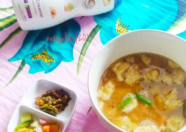 Cara Mudah memasak Soto Betawi fibercreme yang bikin ketagihan