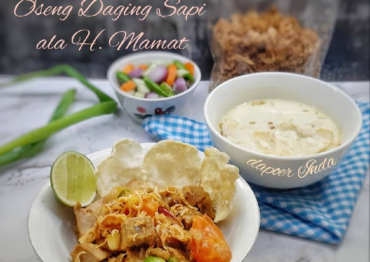 Resep: Soto Betawi Oseng Daging Sapi ala H. Mamat istimewa