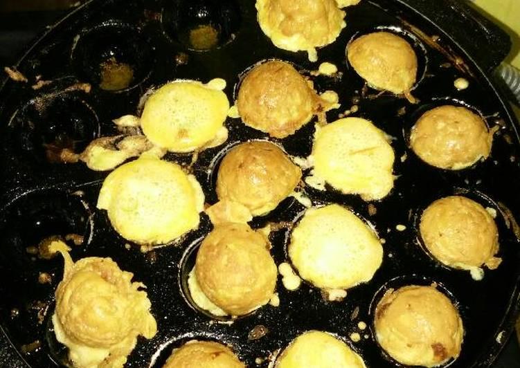 Cara mengolah Kerak telor takoyaki lezat