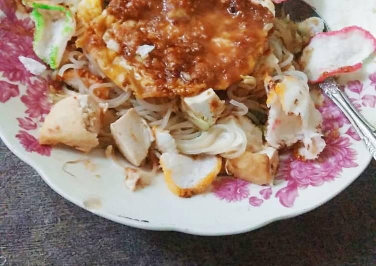 Cara Mudah mengolah Ketoprak telur homemade ala resto