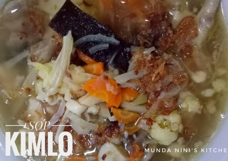 Resep: Sop kimlo yang menggugah selera