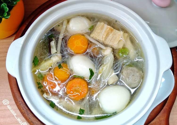 Cara Mudah memasak Kimlo soup enak