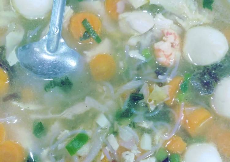 Cara membuat 19. Sup kimlo lezat