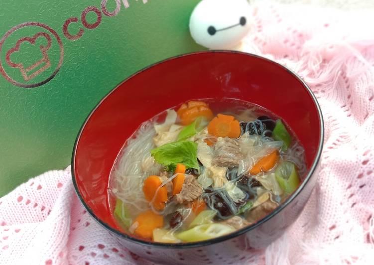 Resep: Sup Kembang Tahu (sup kimlo) sedap