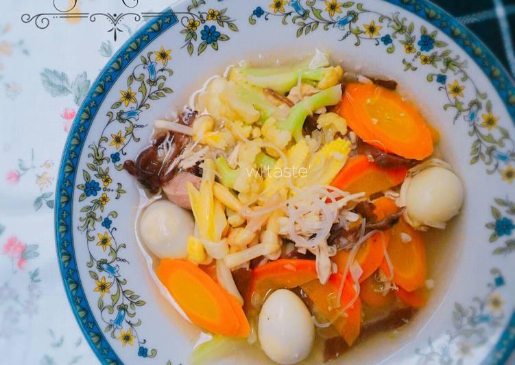 Cara Mudah memasak Sop kimlo enak