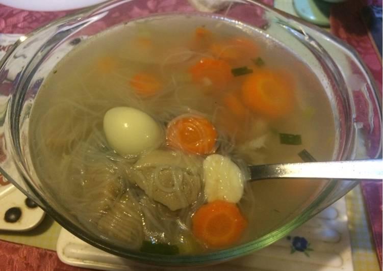 Cara mengolah Sayur sop kimlo enak
