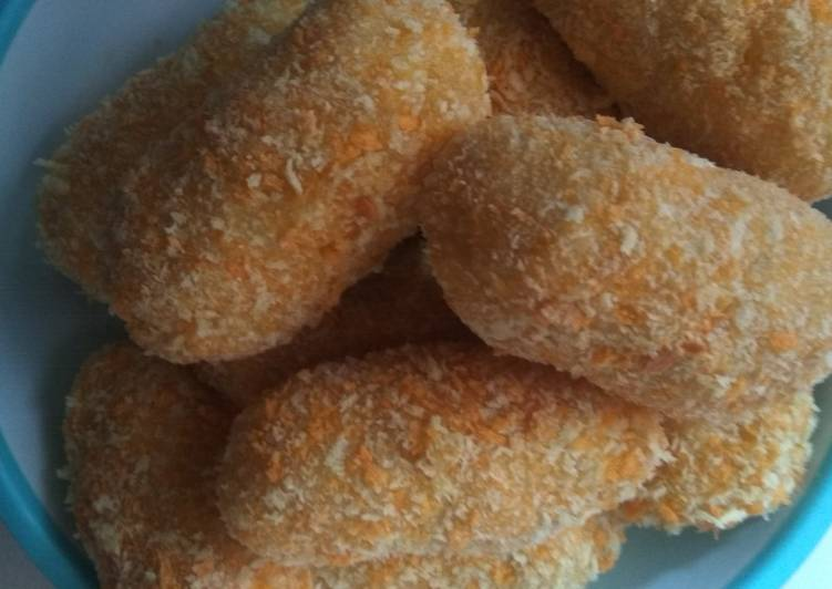Resep: Kroket kentang isi sosis keju istimewa
