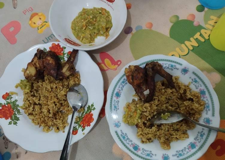 Cara Mudah memasak Nasi kebuli ayam ala resto