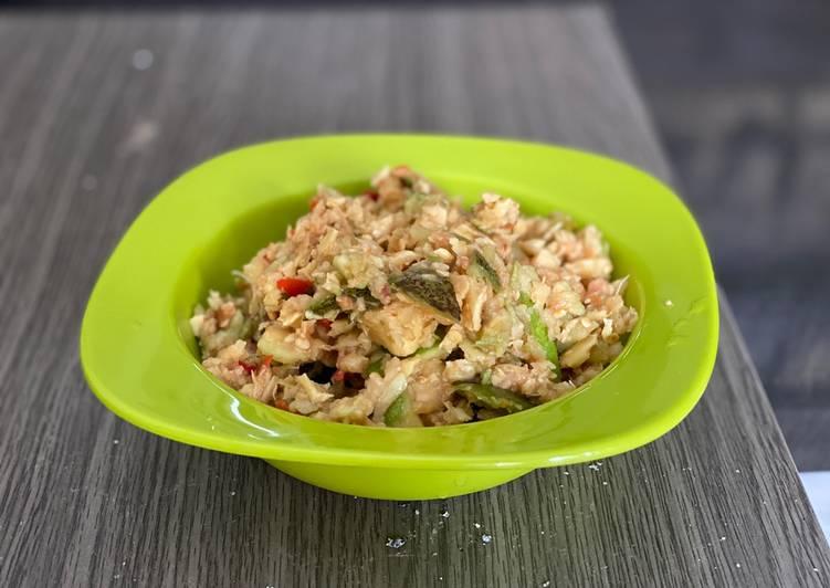 Resep: Rujak tumbuk (beubeuk) jambu batu, kedongdong & ubi jalar ala resto