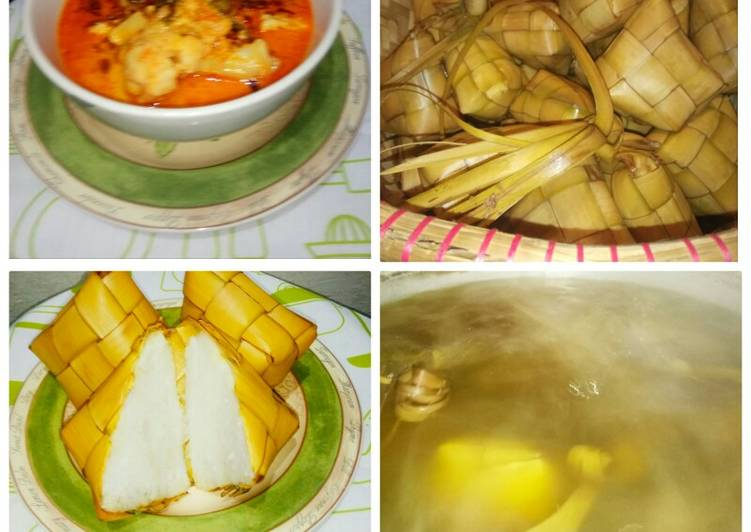 Resep: Ketupat lengkap dengan sayur besan betawi yang menggugah selera