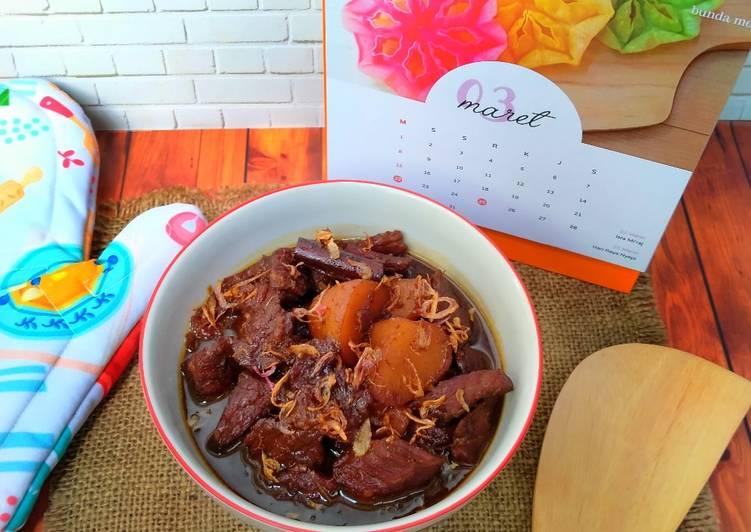 Resep: Semur daging + kentang betawi yang menggugah selera