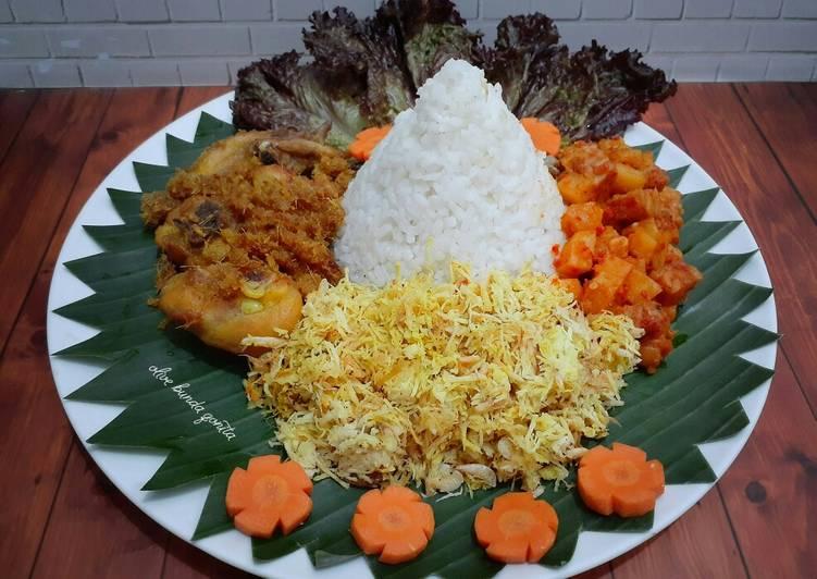 Resep: Tumpeng pelas (mini) ala mama lezat