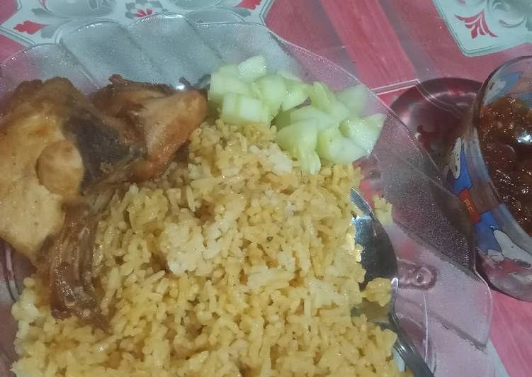 Cara memasak Nasi kebuli ayam enakkk sedap