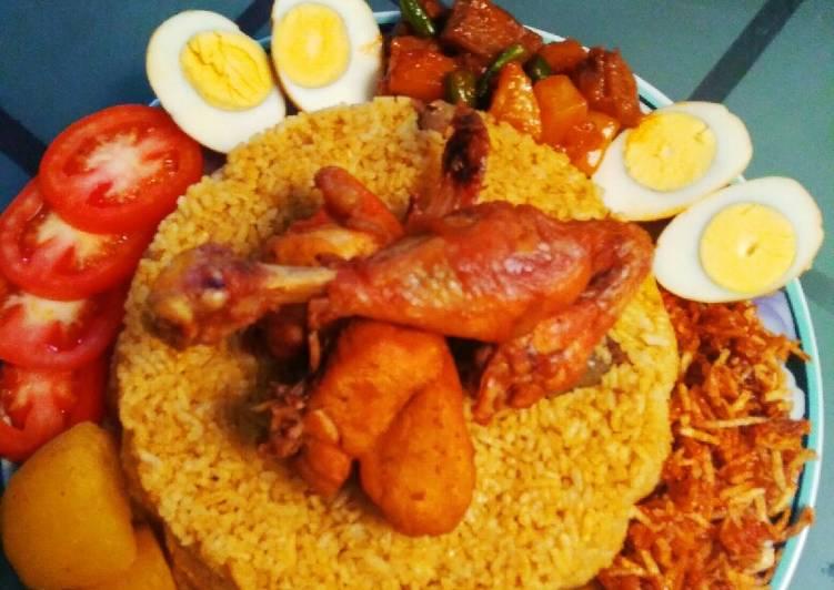 Resep: Nasi Kebuli Bumbu Instan Rice cooker yang menggugah selera