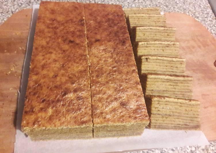 Cara memasak Lapis Legit Spekkoek Premium yang bikin ketagihan