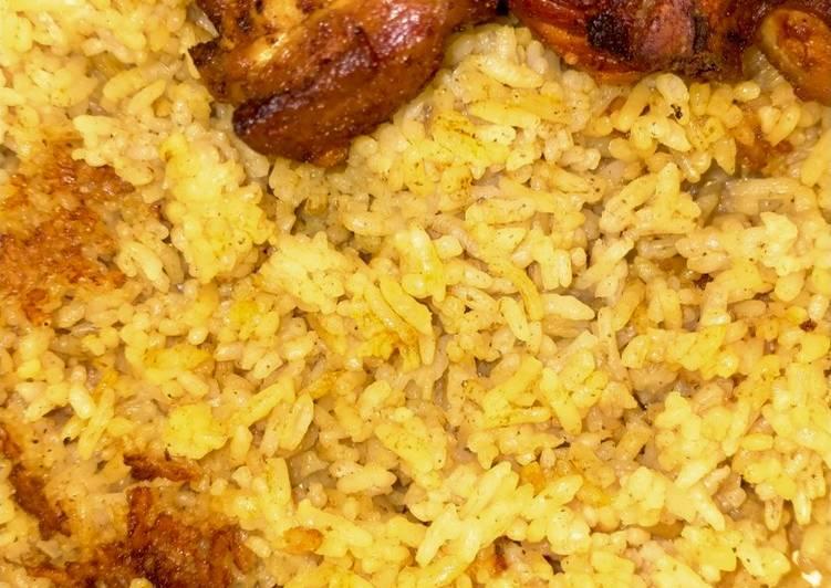 Resep: Nasi kebuli ayam rice cooker lezat
