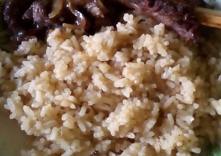 Nasi Kebuli Iga Sapi + Beef Teriyaki