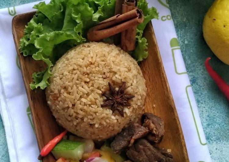 Nasi Kebuli Daging Sapi (Rice Cooker)