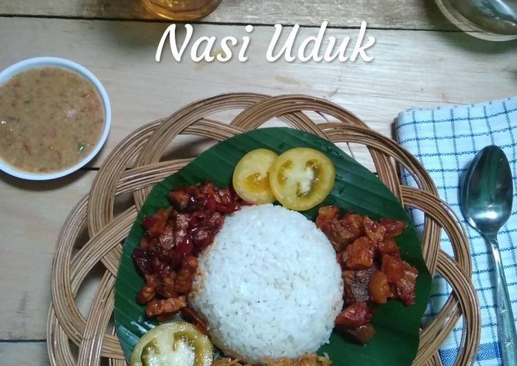 Resep mengolah Nasi uduk komplit masak magic com ala resto