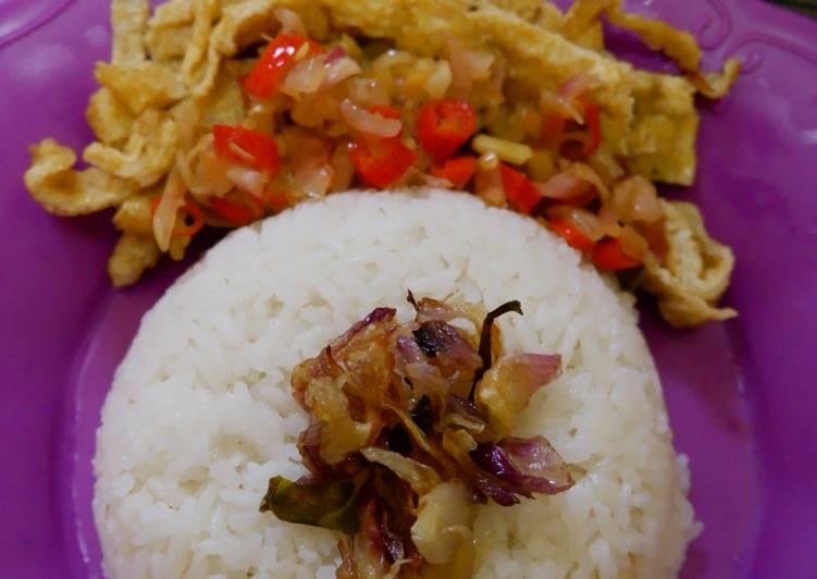 Nasi Uduk Rice Cooker Buatan Anak Kos