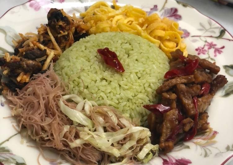 Resep: Nasi uduk hijau yang menggugah selera