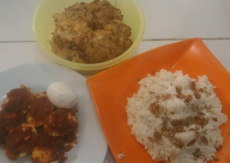 Resep: Nasi uduk rice cooker sedap