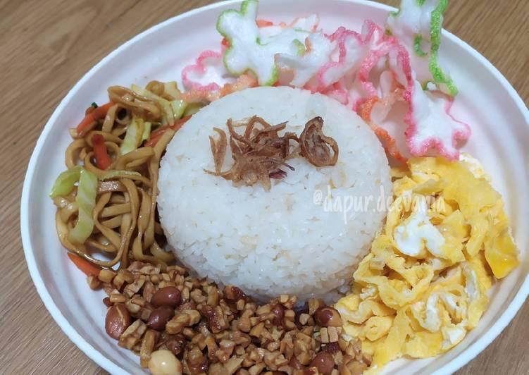 Resep: Nasi uduk / nasduk rice cooker enak