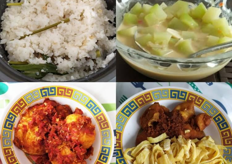 Cara membuat Nasi uduk rice cooker istimewa