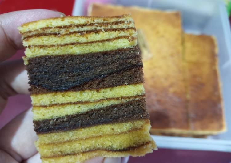 Resep: Lapis ginggang / lapis legit coklat istimewa