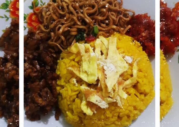 Resep: Nasi kuning/nasi uduk kuning yang menggugah selera