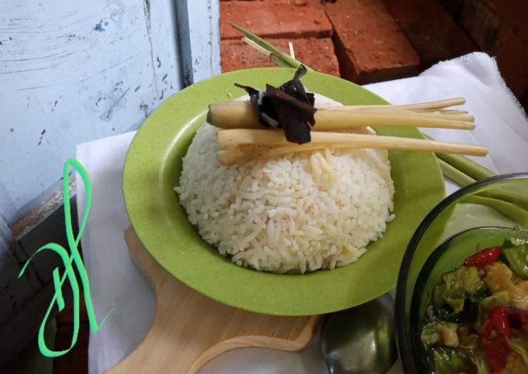 Resep mengolah Nasi Uduk Tanpa Santan (liwet) lezat