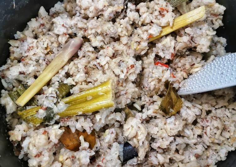 Cara membuat Nasi Uduk Beras Putih+Merah (Rice Cooker) yang bikin ketagihan