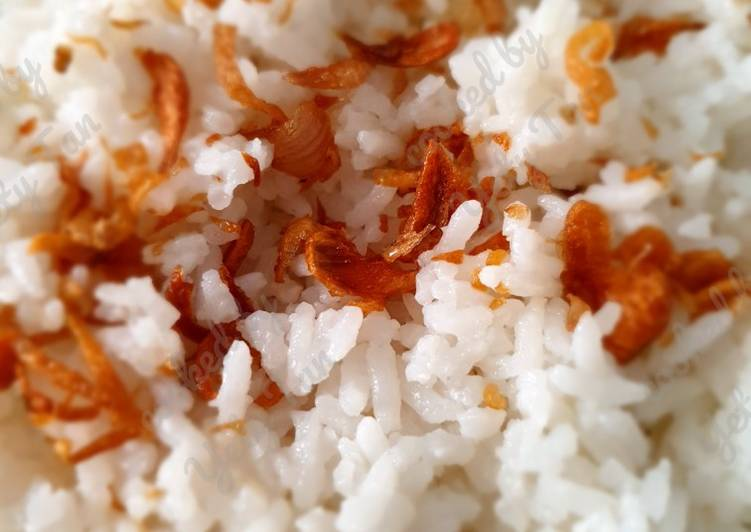 Cara Mudah memasak Nasi uduk rice cooker yang bikin ketagihan