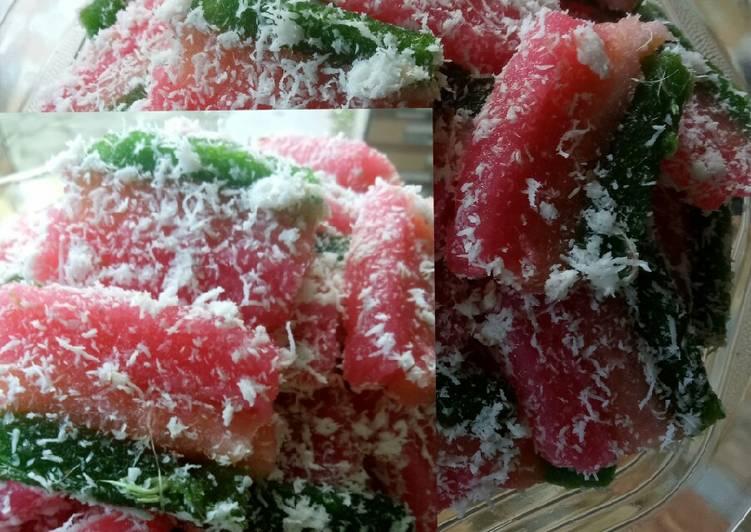 Resep memasak Ongol ongol singkong/Lemet Rainbow yang menggugah selera