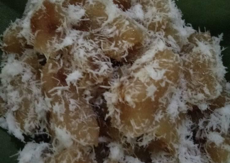 Cara Mudah mengolah Ongol ongol ubi kayu/singkong yang bikin ketagihan