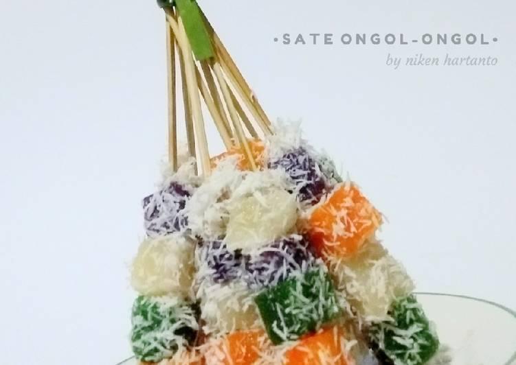 Resep: Sate ongol-ongol (singkong & nutrijel) enak